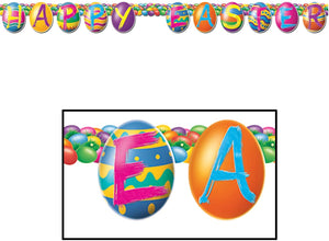 "Beistle ""Happy Easter"" Colorful Egg Banner Streamer (40414)"