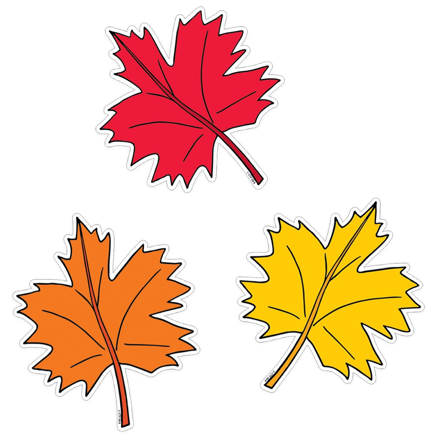 Creative Teaching Press Fall Leaves Designer Cutouts, 36 Pack (CTP8228)