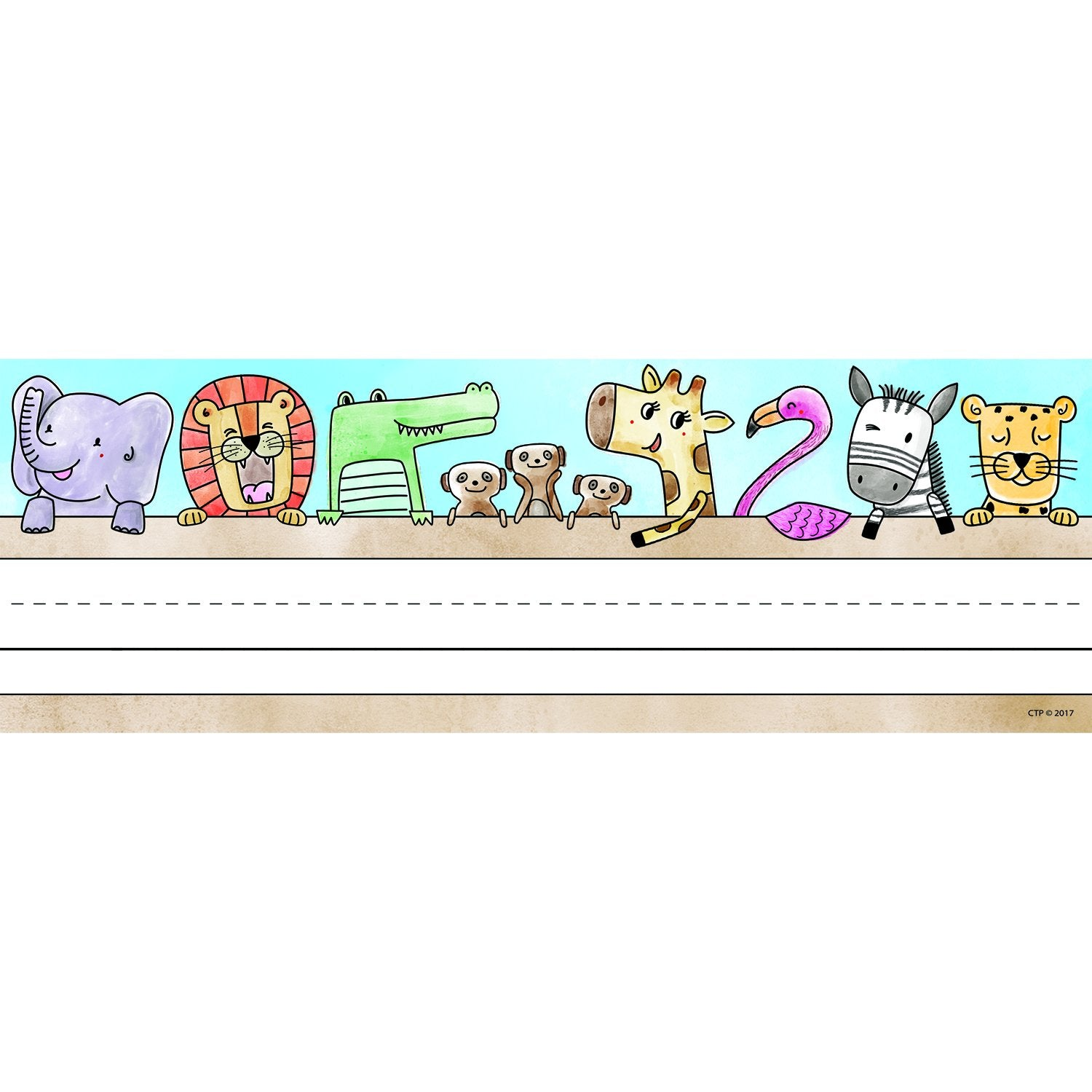 Creative Teaching Press Safari Friends Name Plates (CTP 4298)
