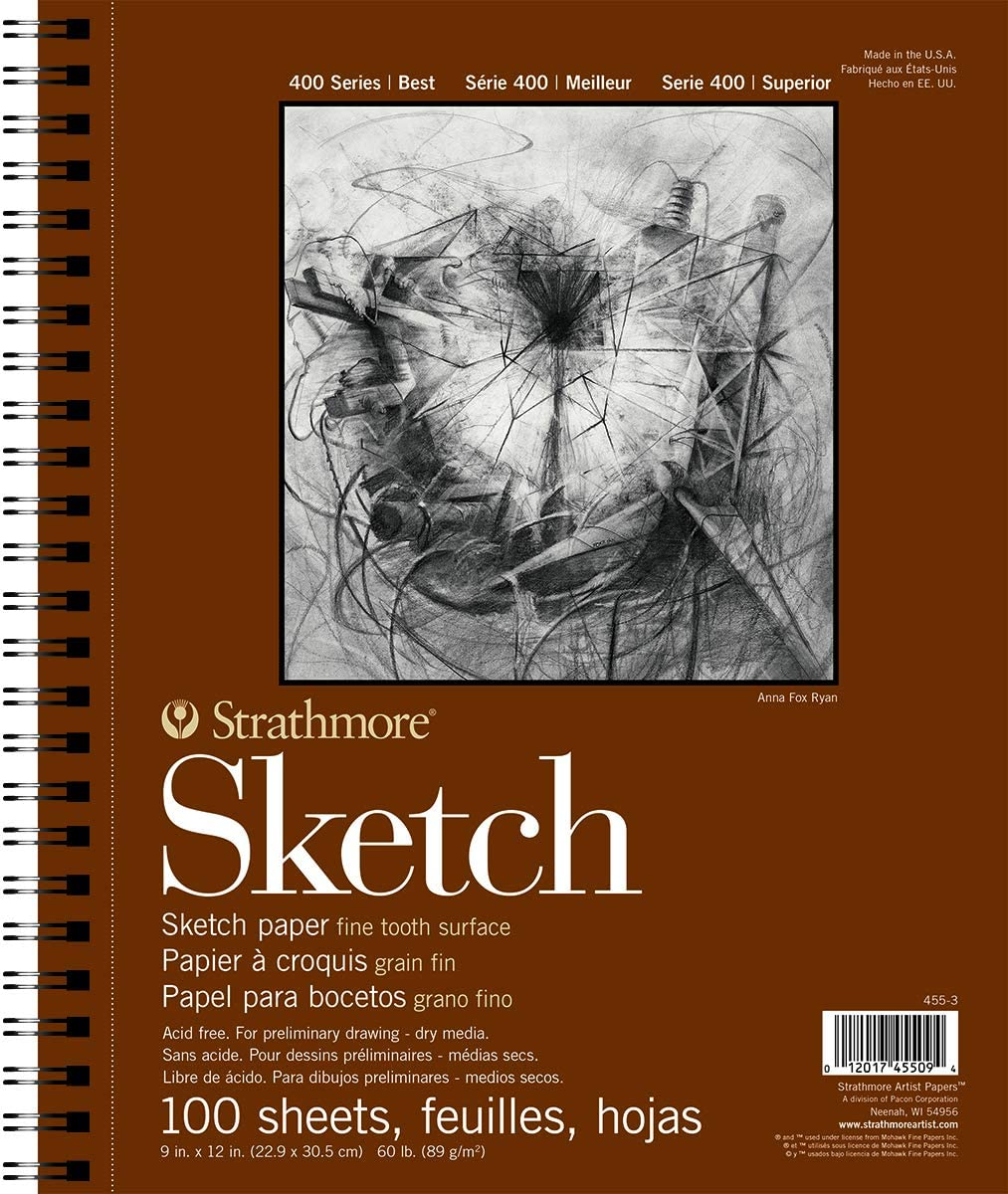 "Strathmore Wire Bound Sketch Pad, 9""x12"", 100 Sheets"