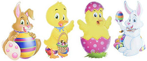 "Beistle Easter Bunnies and Chicks 14"" Cutouts, Pack of 4 (44026)"