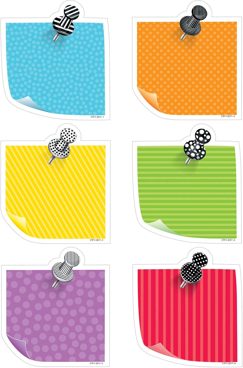 Creative Teaching Press Bold & Bright Sticky Notes Cutouts  (CTP5800)