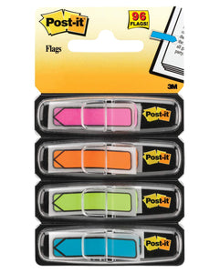 Post-It Arrow Flags (Pkg of 96) 24 each of Pink, Orange, Green and Blue