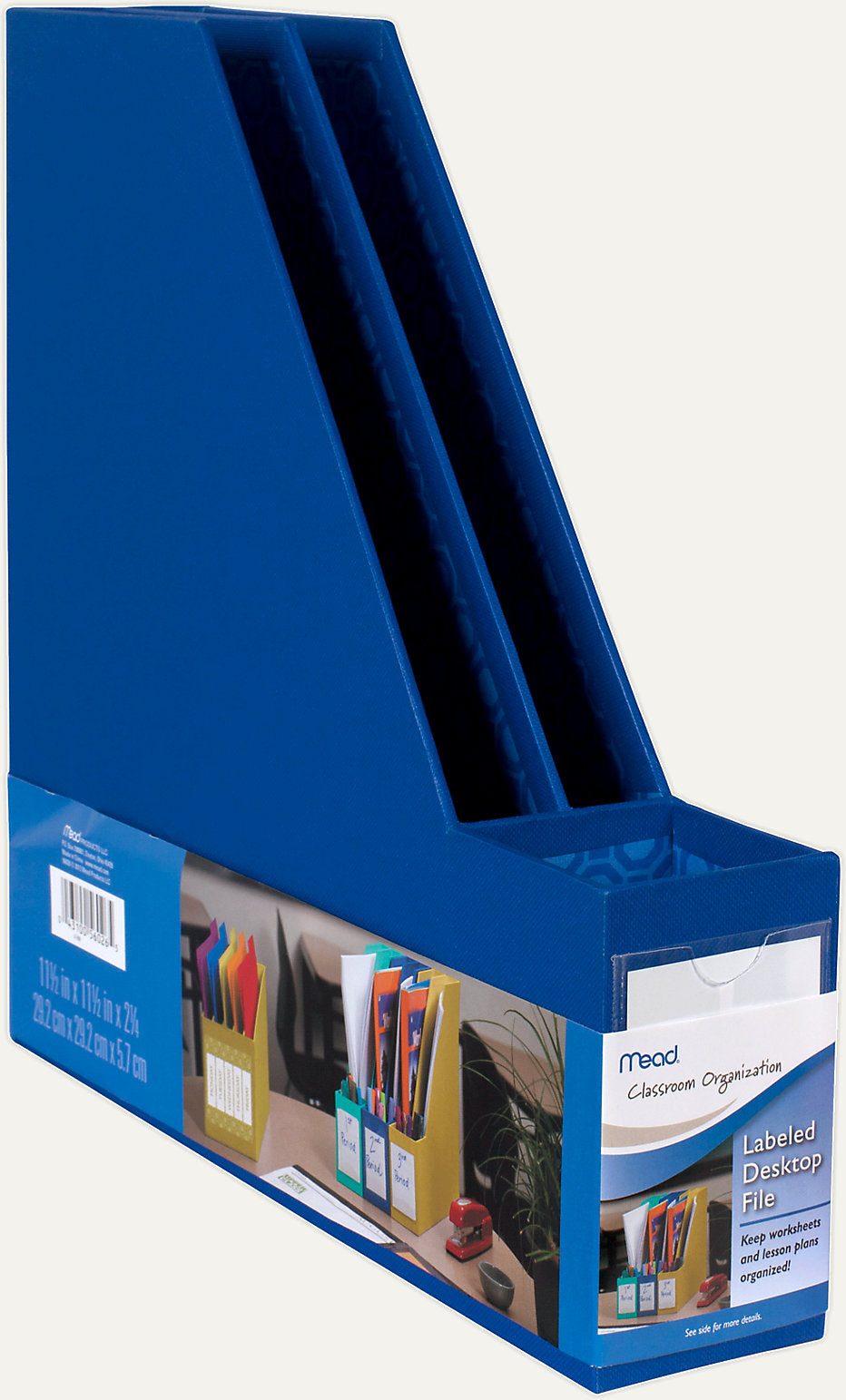 Mead Classroom Organization Labeled Desktop File, Various Colors (56026)