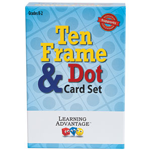 Learning Advantage Ten Frame & Dot Card Set, Math, Counting, Grades K-2 (7295)