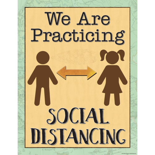 Teacher Created Resources Travel the Map We are Practicing Social Distancing Chart (7502)
