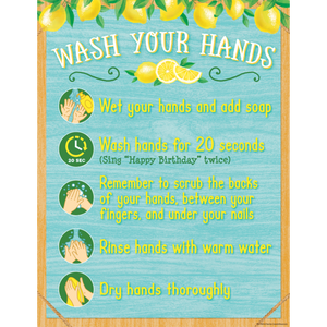 Teacher Created Resources Lemon Zest Wash Your Hands Chart (7503)