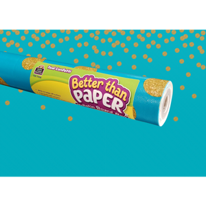 Teacher Created Teal Confetti Better Than Paper Bulletin Board Roll (TCR77036)