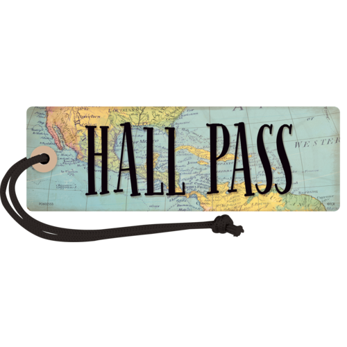 Teacher Created Resources Travel the Map Magnetic Hall Pass (77476)