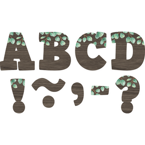 "Teacher Created Resources Eucalyptus Bold Block 3"" Magnetic Letters (77485)"