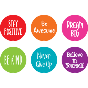 "Teacher Created 4"" Floor Markers Pack of 12 POSITIVE SAYINGS (77509)"