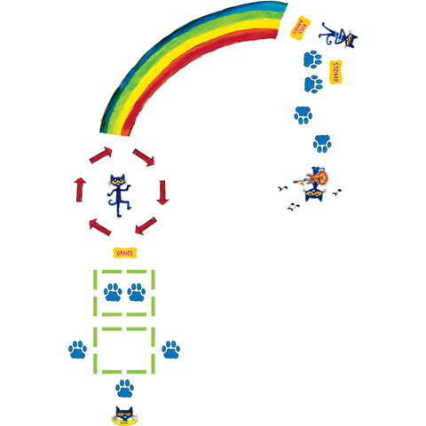 Edupress Pete the Cat Rainbow Boogie Sensory Path (EP 77543)