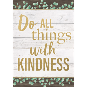 "Teacher Created Resources Do All Things With Kindness Positive Poster 13"" x 17""  (TCR7977)"