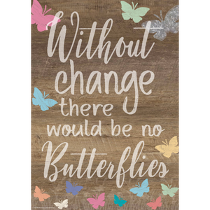 Teacher Created Resources Without Change There Would Be No Butterflies Positive Poster (7988)