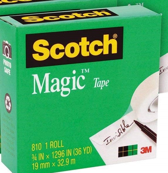 "Scotch Magic Tape Refill, 3/4"" x 1296"" (3 Yds), 1 Roll"