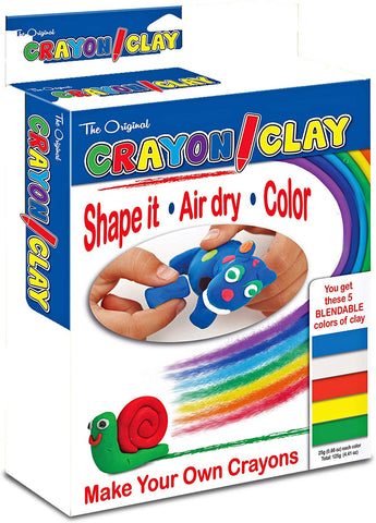 The Original Crayon Clay w/ 5 Blendable Colors 50 grams ea (TPG-665)