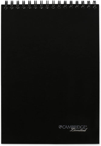 "Cambridge Limited Business Notebook, 8-1/2"" x 11"", Top Bound, Black (06092)"