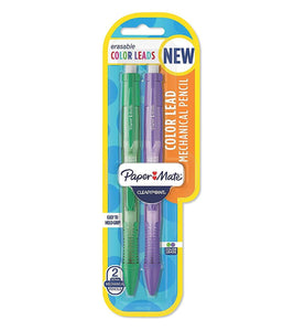 Paper Mate Clear Point Color Lead Mechanical Pencils, Purple & Green, 0.7 mm