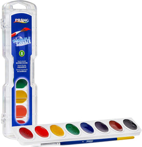 Prang Washable Watercolor Paint Set, 8 Count, Assorted Styles