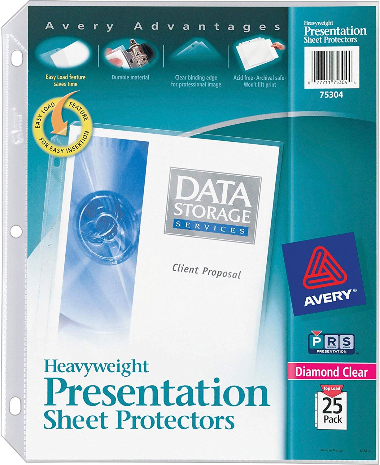 Avery Heavyweight Presentation Sheet Protectors, Pack of 25 (75304)
