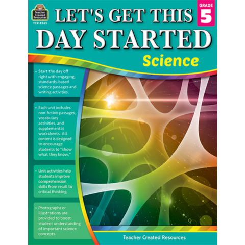 Teacher Created Let's Get This Day Started Science Workbook, Choose grades 1-6