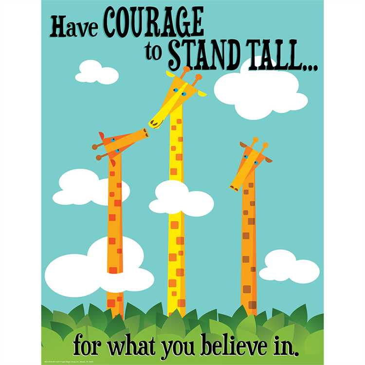 "Courage to Stand Tall Poster, 17"" x 22"" (EU837207)"
