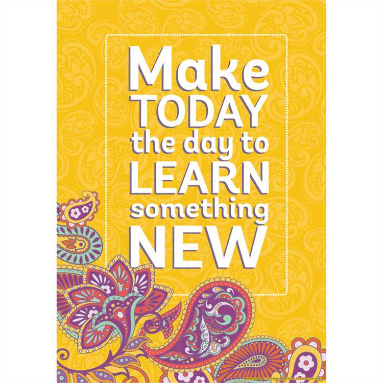 "Eureka Positively Paisley Make Today the Day Poster 13"" x 19"" (837492)"