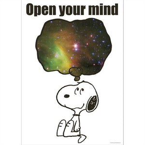 "Eureka Peanuts® NASA Open Your Mind Poster, 13"" x 19"". Snoopy Space (837528)"