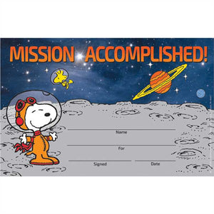 Eureka Peanuts® NASA Recognition Awards, Pack of 36, Snoopy (844220)