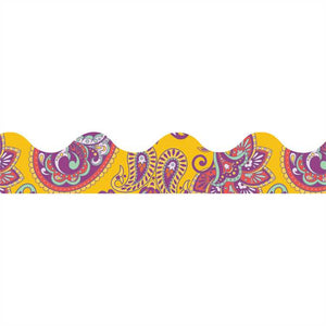 Eureka Positive Paisley Yellow Paisley Deco Trim Border (845630)
