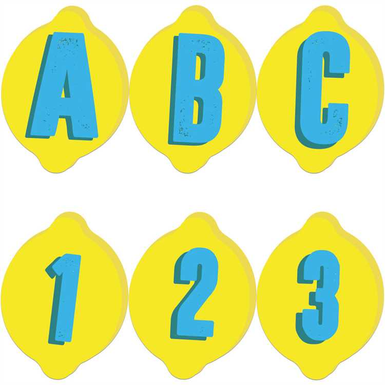 Eureka Always Try Your Zest Lemon Punch-Out Reusable Deco Letters (845638)