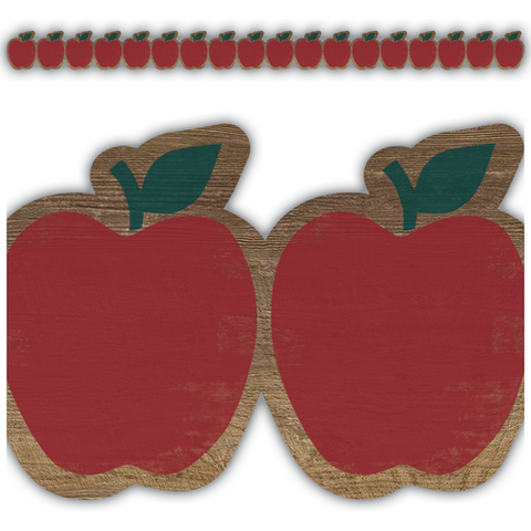 Teacher Created Resources Home Sweet Classroom Apples Die Cut Border Trim (8458)