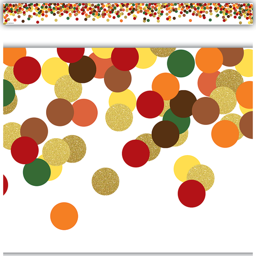 Teacher Created Resources Confetti Fall Straight Border Trim (8459)