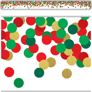 Teacher Created Resources Confetti Christmas Straight Border Trim (8460)