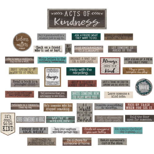 Teacher Created Resources Home Sweet Classroom Acts of Kindness Bulletin Board Set (8462)