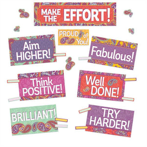 Eureka Positive Paisley Class Management Mini Bulletin Board Set (847781)