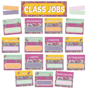 Eureka Positive Paisley Class Jobs Mini Bulletin Board Set (847783)