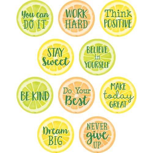 Teacher Created Resources Lemon Zest Positive Sayings Accents, 30 Pack (TCR8480)