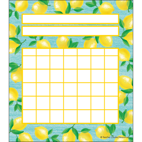 Teacher Created Lemon Zest Incentive Charts (TCR 8486)