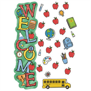 Eureka Back to School Welcome All-In-One Door Decor Kit, Apples (849337)