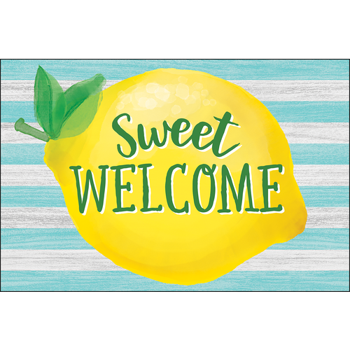 Teacher Created Lemon Zest Sweet Welcome Postcards (TCR 8496)