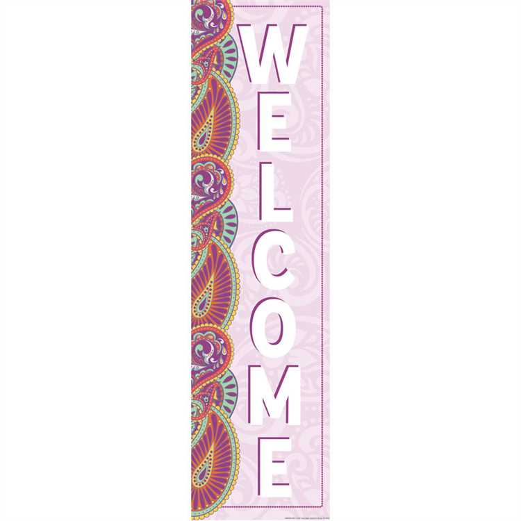 Eureka Positively Paisley 4' Welcome Banner (849940)