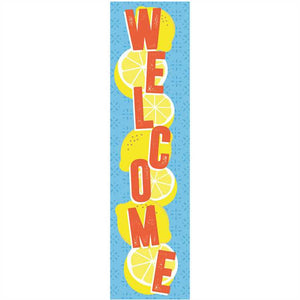 Eureka Always Try Your Zest Lemon 4 Ft Welcome Vertical Banner (849941)