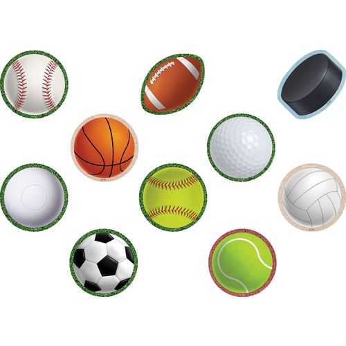 Teacher Created Resources Sports Mini Accents, 36 Pack (TCR 8499)
