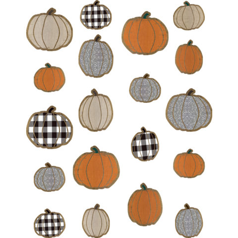 Teacher Created Home Sweet Classroom Pumpkins Accents, Assorted Sizes, 57 Pack (TCR 8553)