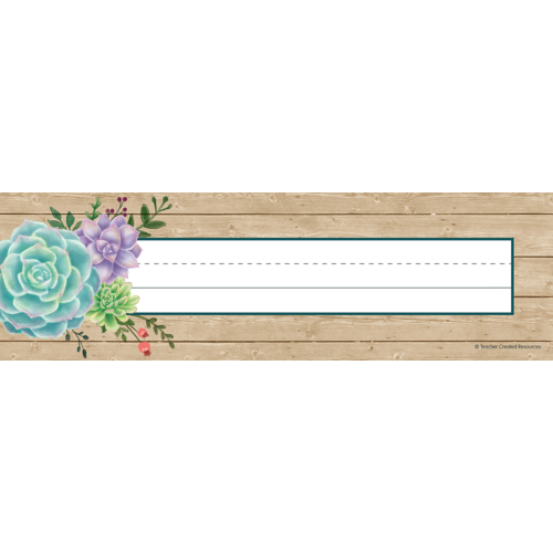 Teacher Created Rustic Bloom Flat Desk Name Plates 36/Pack (TCR 8555)