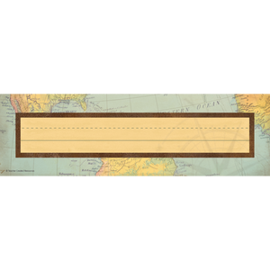 Teacher Created Travel the Map Flat Desk Name Plates 36/Pack (TCR8571)