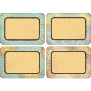 Teacher Created Travel the Map Multi-Pack Name Tags/Labels (TCR 8574)