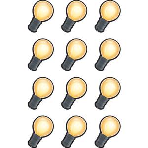 Teacher Created Resources White Light Bulbs Mini Accents, 36 Pack (TCR8597)