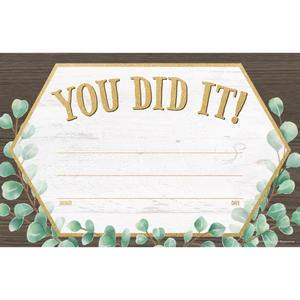 Teacher Created Resources Eucalyptus You Did It! Awards (TCR 8694)